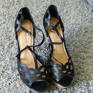 Diva Lounge black peeptoe stilettos size 8.5